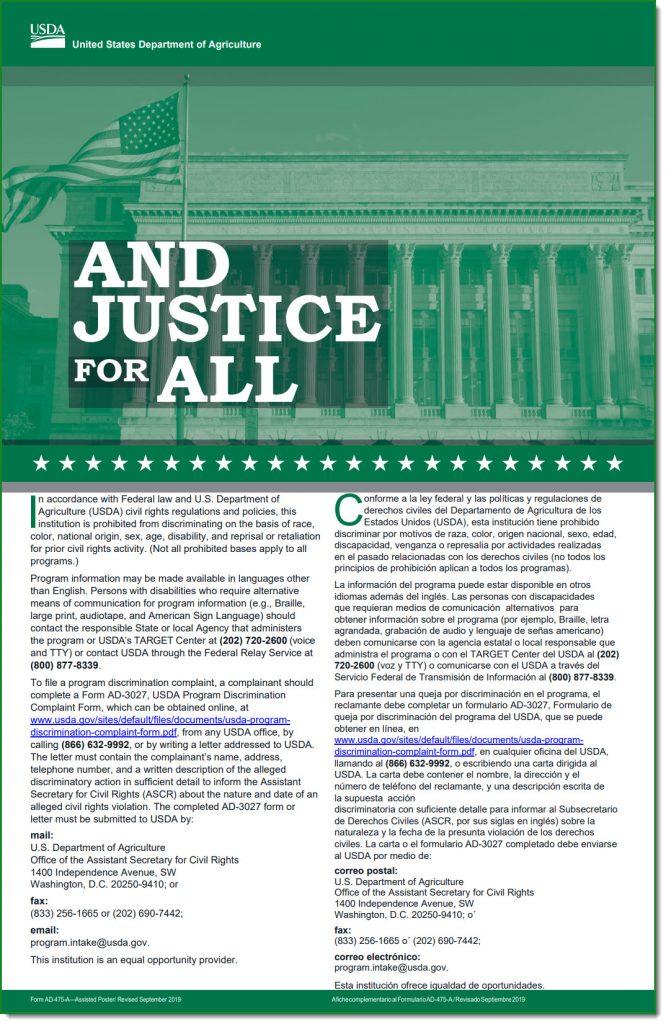 USDA Non Discrimination Poster